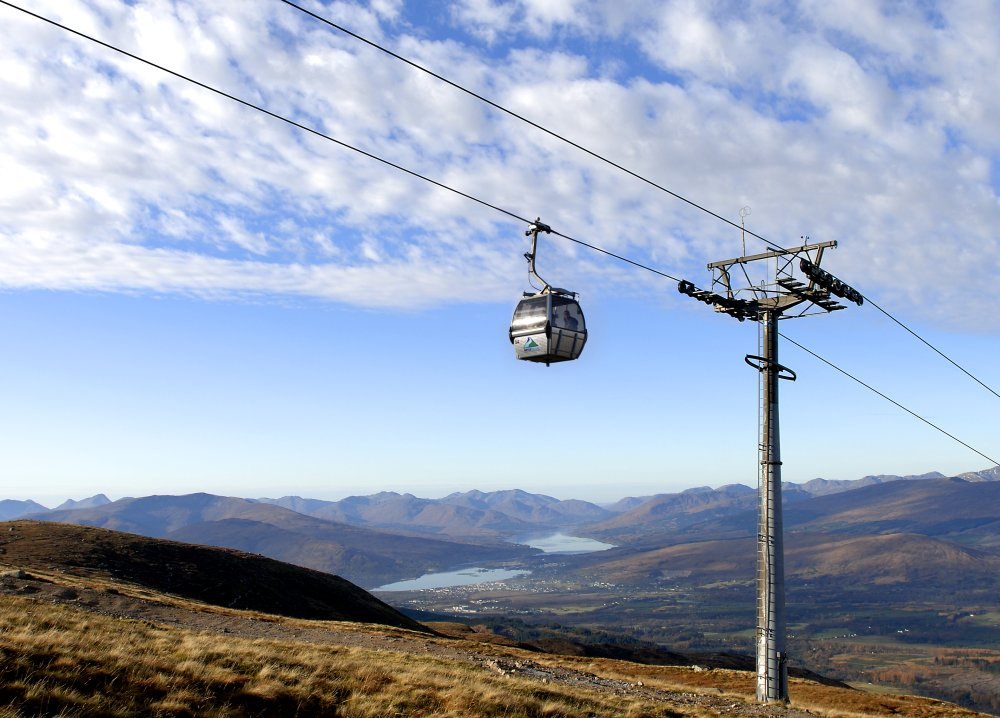 Nevis Range Cable Car in Scotland